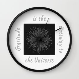 Universal Gratitude LT Wall Clock