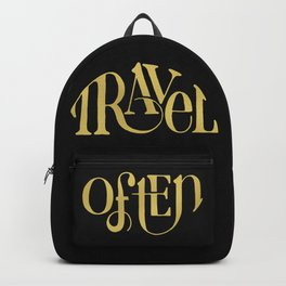 Travel in Gold Backpack