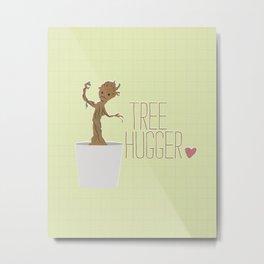 groot.. guardians.. tree hugger.. humor Metal Print