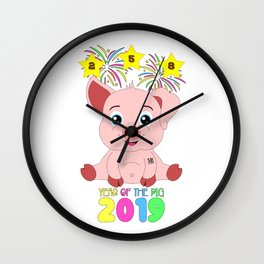 Year Of The Pig 2019 Chinese New Year Astrology Zodiac Wall Clock