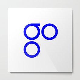 OmiseGo Go OMG Blue Logo Metal Print