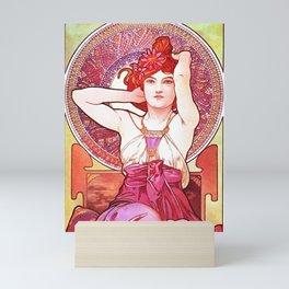 Alphonse Mucha Amethyst Art Nouveau Mini Art Print