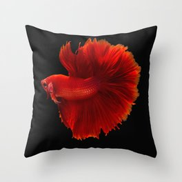 Fighting fish Throw Pillow