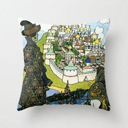 """Tales of the Tsar"" by Ivan Bilibin Throw Pillow"