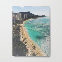 Above Waikiki Metal Print