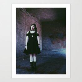 Girl in a Box Art Print