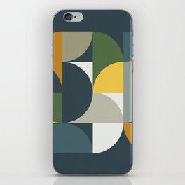 Mid Century Geometric 13/2 iPhone Skin