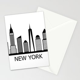 new york skyline Stationery Cards