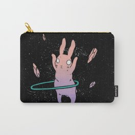 Hula Hooping Rabbit in Space Carry-All Pouch