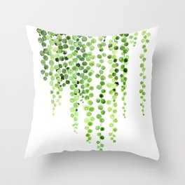 Watercolor string of pearls illustration Throw Pillow