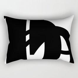 Hidden Letters. Baskerville B Rectangular Pillow