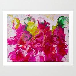 Inviting iris Art Print