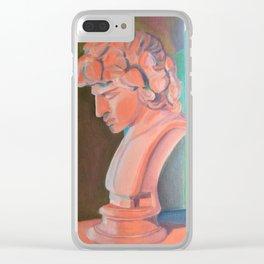 Technicolor Greek Bust Clear iPhone Case