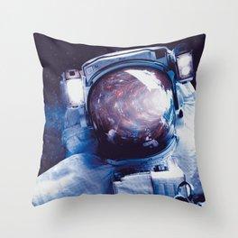 astronaut space Throw Pillow
