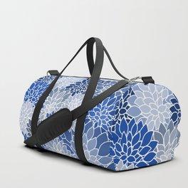 Succulents Shades of Blue Duffle Bag