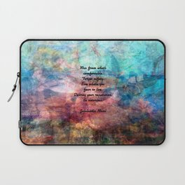 Challenging Fear Rumi Uplifting Quote With Beautiful Underwater Painting Laptop Sleeve