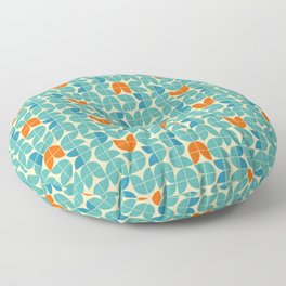 Mid Century Modern Scandinavian Tulips Floor Pillow