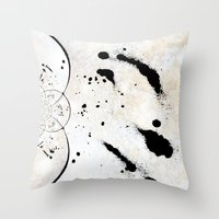 radio Throw Pillows featuring Radio Frequency by Angela Pesic