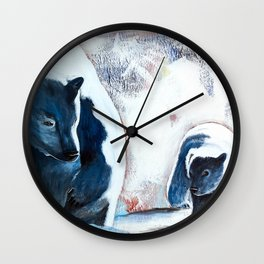 Bears - Don't be afraid, I'll show you the way... by LiliFlore Wall Clock