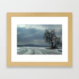 Iceroad Framed Art Print