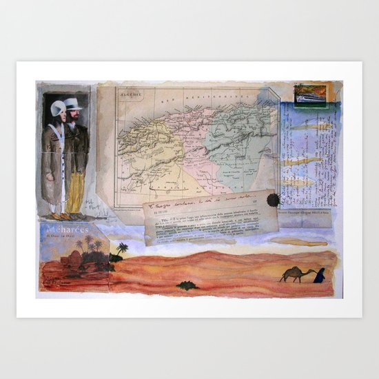 KIT AND PORT (THE SHELTERING SKY) Art Print