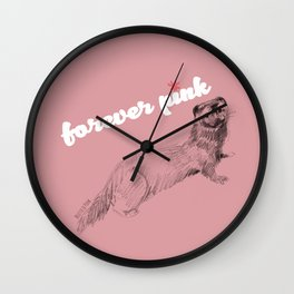 Forever pink Wall Clock