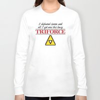 triforce Long Sleeve T-shirts featuring Lousy Triforce by Mike Handy Art