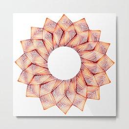 Threaded Lotus Metal Print