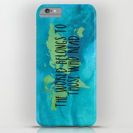 The World Belongs to Those Who Read - Watercolour iPhone Case