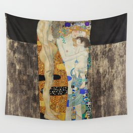 The Three Ages of Woman, 1905 by Gustav Klimt Wall Tapestry