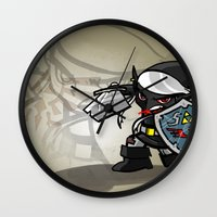 hyrule Wall Clocks featuring Dark Warrior of Hyrule by joshWenrick