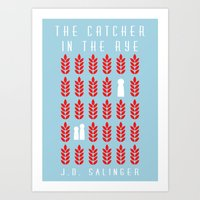 catcher in the rye Art Prints featuring The Catcher in the Rye by BaconFactory