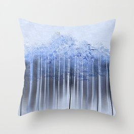 Shredded Abstract in Blue Throw Pillow