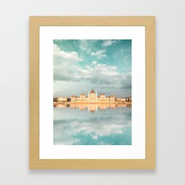 Budapest Reflection Framed Art Print
