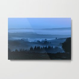 My road, my way. Blue. Metal Print