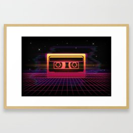 Sunset Cassette Framed Art Print