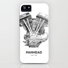 Vintage Harley Panhead Motorcycle Engine iPhone Case