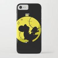 mario kart iPhone & iPod Cases featuring Yoshi and Baby Mario ( super mario bros ) by TxzDesign