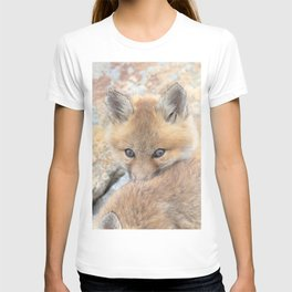 Watercolor Fox, Red Fox 47, Union Reservoir, Boulder County T-shirt