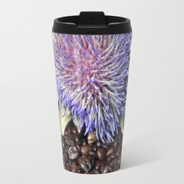 Fresh Coffee Beans & Blue Artichoke Travel Mug