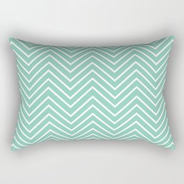 Zig Zag Green Rectangular Pillow