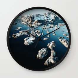 norway aerial view Wall Clock