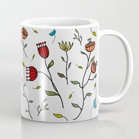 spice Mugs featuring Floral Spice by Itaya Art