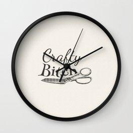 Crafty Bitch Wall Clock