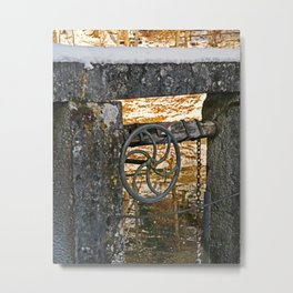 The wheel at the lock Metal Print