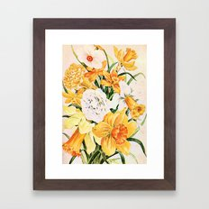 Wordsworth  and daffodils. Framed Art Print