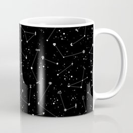 Constellations (Black) Coffee Mug