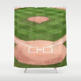 Baseball field Shower Curtain