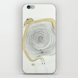 """""""outwards not inwards"""" spiral iPhone Skin"""
