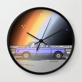 Midnight Rainbow Wall Clock